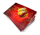 3d render christmas book on a white background — Stock Photo