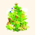 Illustration of isolated decorative Christmas Tree — Stock Photo #3853790
