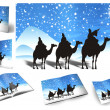 Traditional Christmas background, illustration of Christmas Card — Stock Photo