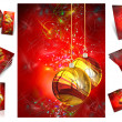 Traditional Christmas background, illustration of Christmas Card — Stock Photo #3853862
