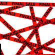 Red tape with the words FINAL SALE — Stock Photo #3662812
