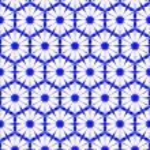 Seamless blue wallpaper pattern — Stock Photo