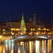 Beautiful kind on Moscow Kremlin — Stock Photo