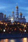 Beautiful nightly kind on the Moscow — Stock Photo