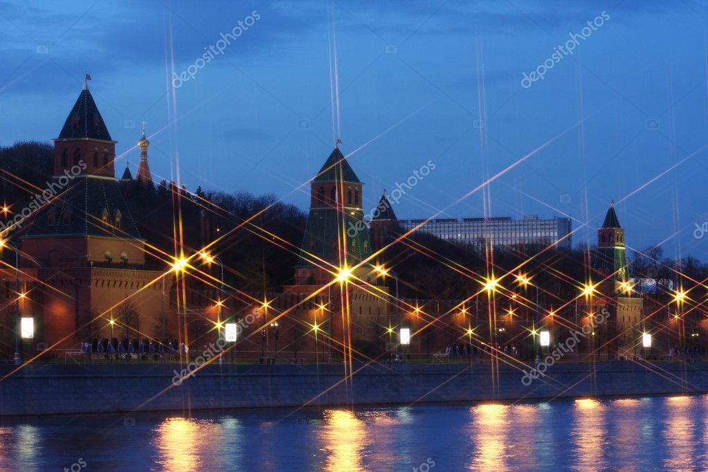 Beautiful kind on Moscow Kremlin at night, Russia — Stock Photo #3125336