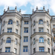 High beautiful building is in Moscow - Stock Photo