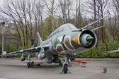 Letadlo v muzeu vojenské techniky — Stock fotografie