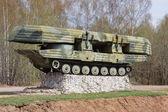 Pontoon military bridge machine — Stock Photo