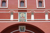 Beautiful icon on the wall of building on the Red area in Moscow — Stock Photo