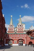 Building of historical museum on the Red area in city Moscow — Stock Photo