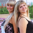 Two beautiful girls are in summer — Stock Photo #3650864
