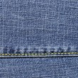 Close-up of the blue jeans cloth — Stock Photo