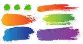 Vector conjunto de manchas de cor — Vetor de Stock