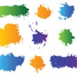 Vector set of color blots - Stock Vector