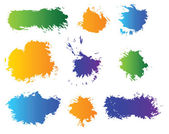 Vector set of color blots — Stock Vector
