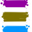 Set of color banners, vector — Stock Vector
