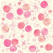 Royalty-Free Stock Imagem Vetorial: Seamless floral light vector background