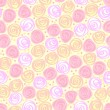 Seamless floral light vector background - Grafika wektorowa