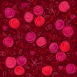 Royalty-Free Stock Imagem Vetorial: Seamless floral red vector background