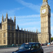Постер, плакат: Taxi cab near of Big Ben