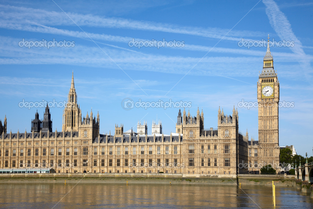 House of Parliament and Thames river  Stock Photo #2970596