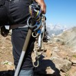Mountaneer with climbing equipment — Stock Photo #3676721