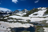 Small lake in the mountains — Stock Photo