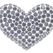 Stock Photo: Diamond heart