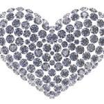 Diamond heart — Stock Photo