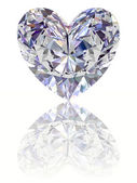 Diamond in shape of heart — Stock Photo