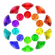 Gemstones kaleidoscope — Stock Photo