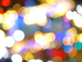 Blurred background of circular lights — Stock Photo