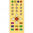 Golden universal remote control - Stock Photo