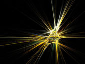 Fractal star burst on black background — Stock Photo