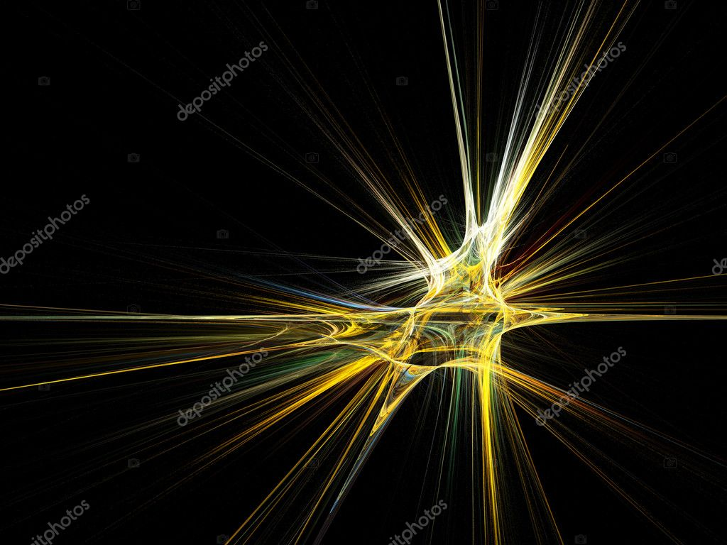 Fractal star burst on black background. High resolution abstract image — Stock Photo #2918757