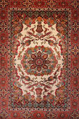 Background Turkish silk carpet — Stock Photo