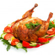 Roast chicken with vegetables — Stock Photo #2923539