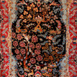 Background Turkish silk carpet — Stock Photo #3011748