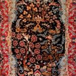 Background Turkish silk carpet — Stock Photo