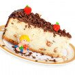 Cheese cake with chocolate — Stock Photo