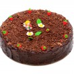 Cheese cake with chocolate — Stock Photo