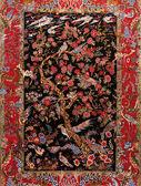 фон турецкий ковер из шелка — Стоковое фото