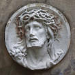 Sculpture of Jesus Christ in the face of thorny — Stock Photo