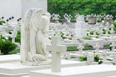 Grieving angel on the military cemetery — Stock Photo