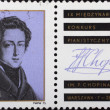 Post stamp with portrait of Frederic Chopin — Stock Photo #3668996