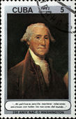 Post stamp with portrait of George Washington — Stockfoto