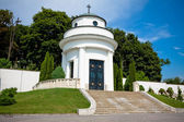 Small chapel on the military cemetery — Stock Photo