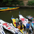 Stock Photo: Punters on river of Oxford