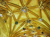 Magdalen College:Heraldry on ceiling — Stock Photo