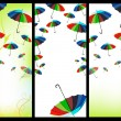 Web banners with umbrellas — Stock Vector
